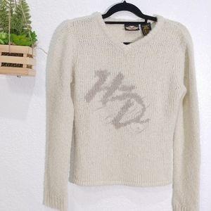 Vintage Harley Davidson initial wool blend Sweater